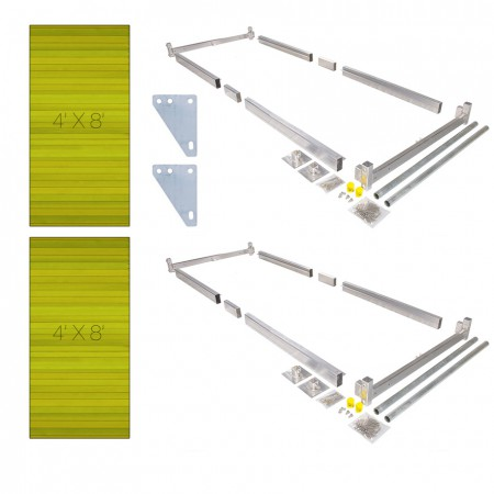 Dock kit easily build your own boat dock on posts double hybrid kit 4 x 8 solutioingenieria Image collections